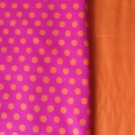 fuchsia with orange dots
