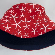 Red sea stars with navy inside