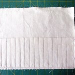 stitching lines to make pencil pockets