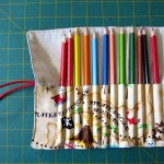 pencil roll with pencils