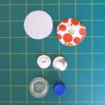 Parts required to construct a fabric covered button