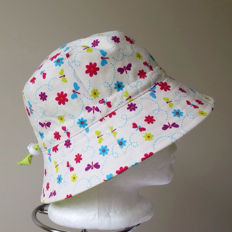 dragonfly cream hat side view