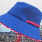 Hat with piping