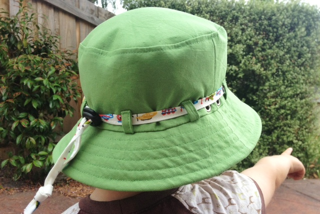 green train hat
